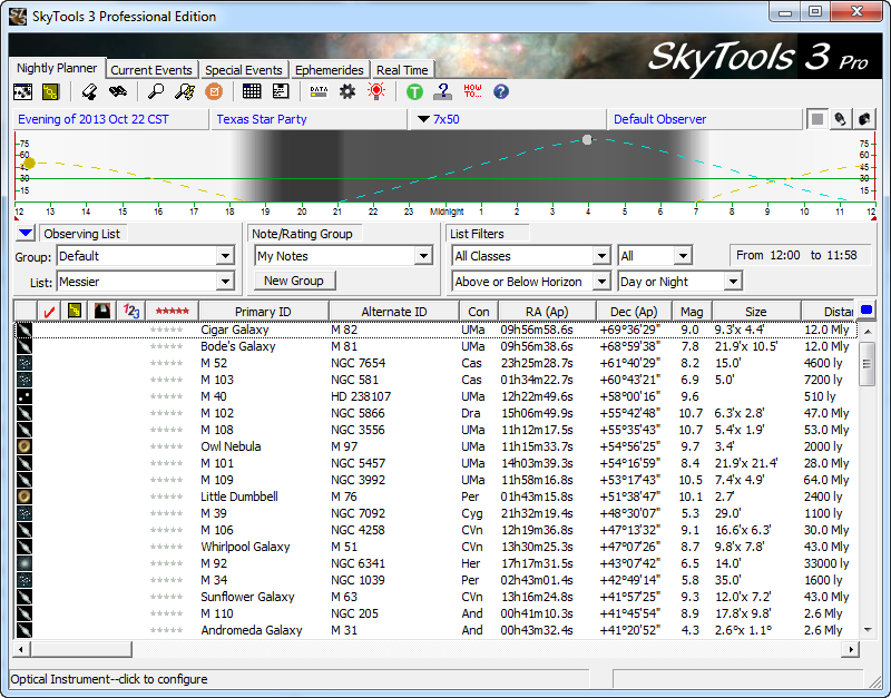 SkyTools Nightly Planner