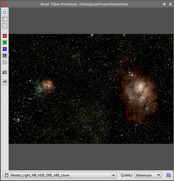 PixInsight Traitement 57